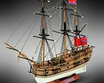 Mamoli MM18 HMS Endeavour - Wooden model kit with pre-carved hull - Scale 1/143 - Length 300 mm - Height 258 mm