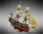 Mamoli MM60 Black Queen - Wooden model kit with pre-carved hull - Scale 1/135 - Length 335 mm - Height 230 mm