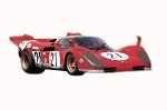 Tameo Ferrari 512 S 12 Hour Sebring 1970 Mario Andretti - 1:43 Scale White Metal Model Car Kit