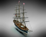 Mamoli MV41 Flying Cloud - American Clipper Ship 1851 - Scale 1/96 - Length 940 mm - Height 610 mm