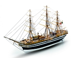 Mamoli MV57 Amerigo Vespucci Model Ship Kit – Training Ship in Italian Naval Academy - Scale 1/150 - Length 28.4 in, Height 14.8 in