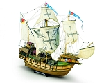 Mamoli MV21 Sao Miguel Caracca Atlantica Model Ship Kit - Scale 1/54 - Length 33.2 in - Height 24.8 in