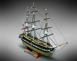 Mamoli MM64 USS Constitution - Wooden model kit with pre-carved hull - Scale 1/330 - Length 10.8 in - Height 7.5 in