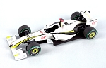 Tameo SLK068 Brawn GP BGP-01 Mercedes - 2009 - White Metal Car Kit - Scale 1:43, Made in Italy