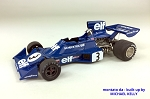 Tameo SLK103 Tyrrell 007 Ford - 1974 - White Metal Car Kit - Scale 1:43, Made in Italy