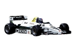 Tameo SLK119 Williams FW 09 Honda - 1983 - White Metal Car Kit - Scale 1:43, Made in Italy