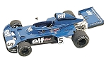 Tameo TMK174 Tyrrell 006 Ford- 1973 - White Metal Car Kit - Scale 1:43, Made in Italy