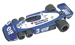 Tameo TMK280 Tyrrell P34/2 Ford - 1977 - White Metal Car Kit - Scale 1:43, Made in Italy