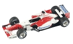 Tameo TMK311 Toyota TF-102 - 2002- White Metal Car Kit - Scale 1:43, Made in Italy