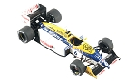 Tameo WCT087 Williams FW11B Honda - 1987 Hungarian Grand Prix - White Metal Car Kit - Scale 1:43, Made in Italy
