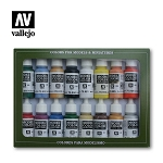 Vallejo Model Color Set USA Basic 16 Bottles