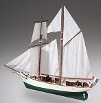 Dusek - D021 - La Belle Poule - Wood and Metal Plank-on-Frame Ship Model Kit - Length: 755 mm (30