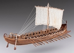 Dusek D001 Greek Bireme - Wood Plank-on-Frame Model Kit - 395 mm (16
