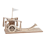 Da Vinci Wagon with Clubs (Carro con Mazze Ruotanti) Riciclandia RIC_07 Laser Cut Wooden Model Kit - Made in Italy