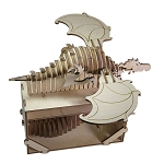 Merlin The Magician - Flying Dragon (Taddeo, il Drago Volante)  Riciclandia RIC_09 Laser Cut Wooden Model Kit - Made in Italy