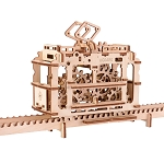 Ugears - Tram With Rails - Laser Cut Wood - 154 Parts.