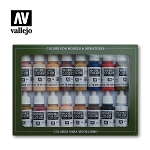 Vallejo Model Color Set Face/Skin Colors 16 Bottles