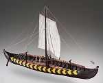 Dusek D006  Viking Gokstad - Plank-On-Frame Wood Ship Model Kit - 1:35 Scale - 610 mm (24