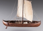 Dusek D013 - Viking Knarr - Wood and Metal Plank-On-Frame Ship Model Kit - Length: 220 mm (9