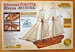 Master Korabel Schooner Polotsk 1788 Ship Plank-On-Bulkhead Wood Model Kit