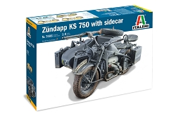 Italeri Zundapp KS750 with Side Car 1:9 Scale
