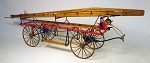 MODEL TRAILWAYS HOOK AND LADDER WAGON 1:12 SCALE WOOD & METAL KIT