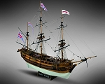 Mamoli MV20 - HMS Beagle - Wood Plank-On-Bulkhead Ship Model Kit - Scale 1/64 - Length 645 mm (26