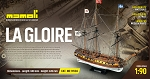 Mamoli MV34 - La Gloire - Wood Plank-On-Frame Model Ship Kit - Scale 1/64 - Length 840 mm (34