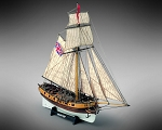 Mamoli MV35 Hunter - Wood Plank-On-Frame Ship Model Kit - Scale 1/72 - Length 440 mm (18