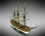 Mamoli MV36 -Rattlesnake - Wood Plank-On-Frame Model Ship Kit - Scale 1/64 - Length: 697 mm (28