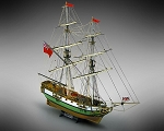 Mamoli MV45 Portsmouth - Wood Plank-On-Frame Ship Model Kit - Length: 685 mm (27
