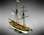 Mamoli MV46 - Black Prince - Wood Plank-On-Frame Model Ship Kit - Scale 1/57 - Length 520 mm (21