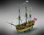 Mamoli MV47 - Endeavour - Wood Plank-On-Frame Model Ship Kit - Scale 1/100 - Length 430 mm (17
