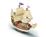 Mamoli MV49 Mayflower - Wood Plank-On-Frame Ship Model Kit - Length: 480 mm (19