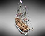 Mamoli MV52 - HMS Bounty - Wood Plank-On-Bulkhead Ship Model Kit - Scale 1/100 - Length 448 mm (18