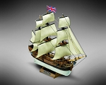 Mamoli MM01 - HMS Bounty - Pre-Carved Wooden Hull Ship Model Kit - Scale 1/135 Length 335mm (13