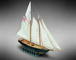 Mamoli MM04 - America - Pre-Carved Wooden Hull Ship Model Kit - Scale 1/140 Length 370mm (14.5