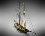 Mamoli MM06 - Flying Fish - Pre-Carved Wooden Hull Ship Model Kit - Scale 1/100 Length 397mm (15.5