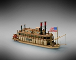 Mamoli MM13 - Mississippi - Pre-Carved Wooden Hull Ship Model Kit - Scale 1/206 Length 240mm (9.5
