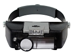 Illuminated Dual Lens Flip-In Head Magnifier, 2 Lenses & Loupe (1.9x , 1.9x , 4.5x)
