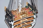 Model Shipways USS Constitution Cross-Section 1797 Wood Model - 1:76 Scale