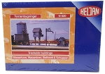 Heljan N Scale Water Tower Shed Water Pump Trackside Building Plastic Kit