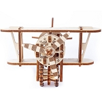 Wooden.City - Biplane - Laser Cut Wood - 74 Parts