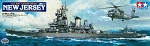 Tamiya U.S. Battleship BB-62 New Jersey (w/Detail Up Parts) 1:350 Scale
