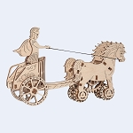 Wooden.City - Roman Chariot - Laser Cut Wood - 69 Parts