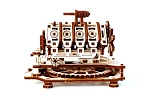 Wooden.City V8 Engine Motion Model & 3D Puzzle - Laser Cut Wood - 177 Parts
