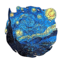 Starry Night Wooden Puzzle Size Large 190 pieces, 28x28 cm