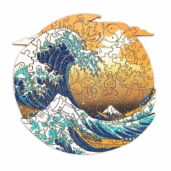 Big Wave Wooden Puzzle Size Small 105 pieces, 19x19 cm