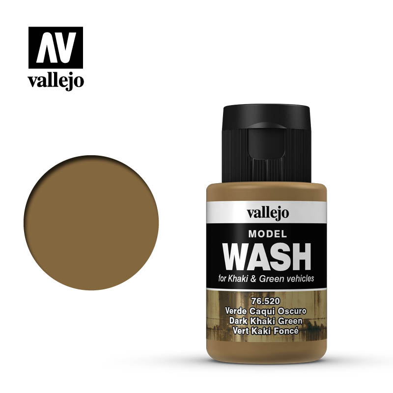 Vallejo Model Wash@Paint Sale Dark Khaki Green 1.18 oz