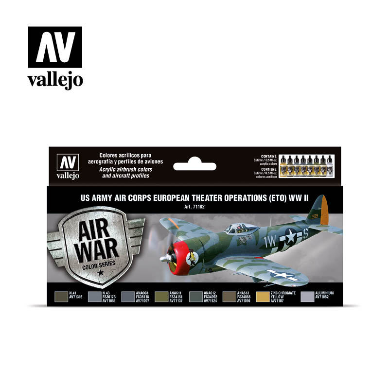 Vallejo Model Air US Army Air Corps European Theater Operations (ETO) WWII 8 Bottles